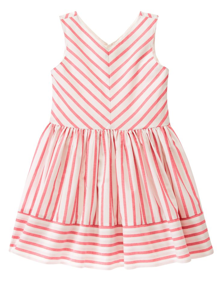 Striped Dress at Gymboree- Just purchased this for my little princess! Love the lines and details. So chic!