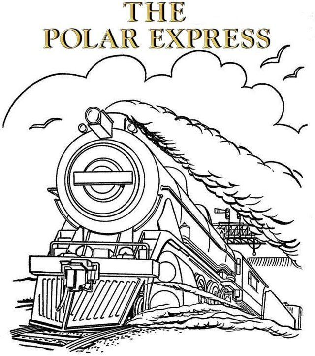 The Polar Express Train Coloring Pages Train Coloring Pages Cute Coloring Pages Coloring Pages