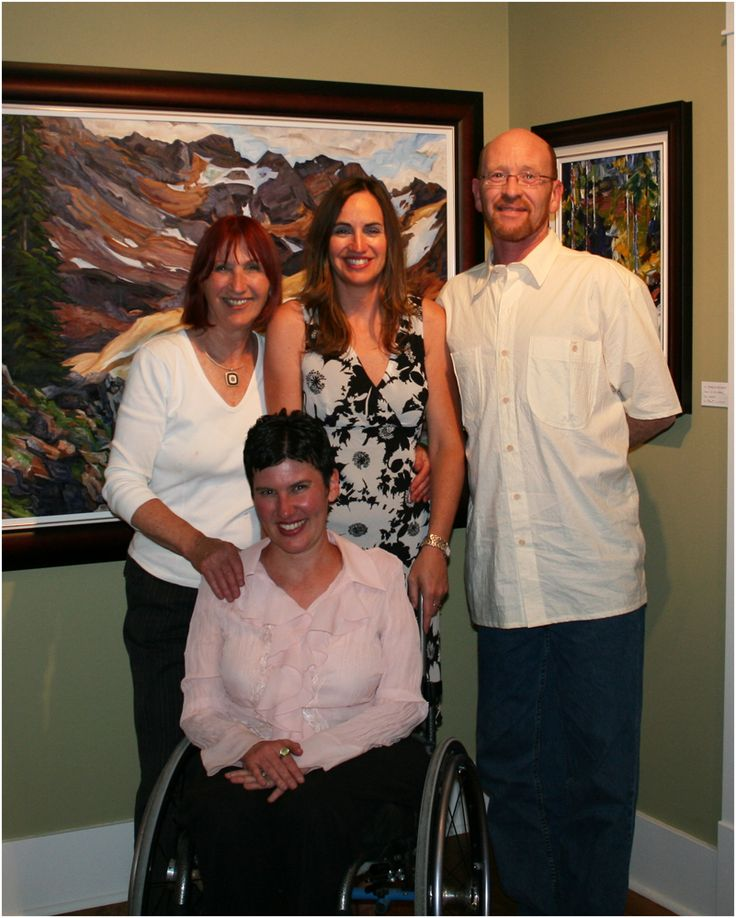 """""""All This Time"""" Exhibition in Kimberley, BC.  With my Mom Elizabeth, sister Lisa and brother David in 2008."""
