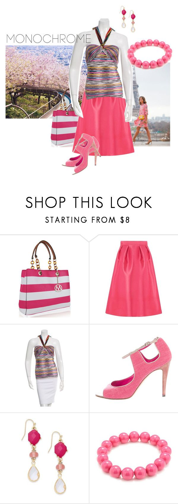 Pink for summer by maria-kuroshchepova on Polyvore featuring M Missoni, Dorothy Perkins, Manolo Blahnik, MKF Collection, INC International Concepts, Kim Rogers and monochromepink