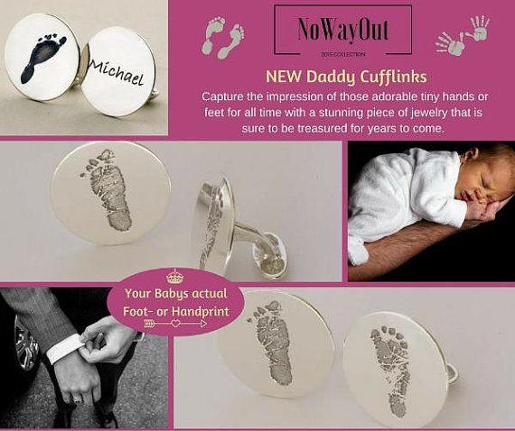 New Daddy gift Your child's actual footprint or hand