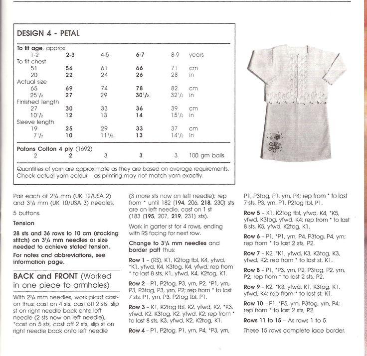 13 best vestits images on Pinterest | Patrones de punto, Vestidos de ...