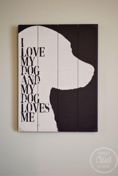 Sweet Chaos: tween bedroom - great piece of dog art- love it!