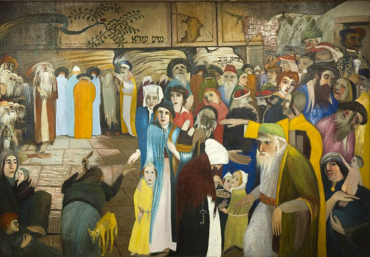 At the Entrance of the Wailing Wall in Jerusalem by Tivadar Csontvary Kosztka