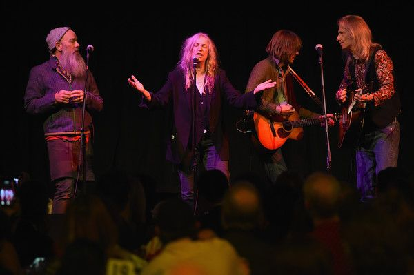 Patti Smith Photos Photos - Michael Stipe and Patti Smith perform at The Anthology Film Archives Benefit and Auction on March 2, 2017 in New York City. - The Anthology Film Archives Benefit and Auction