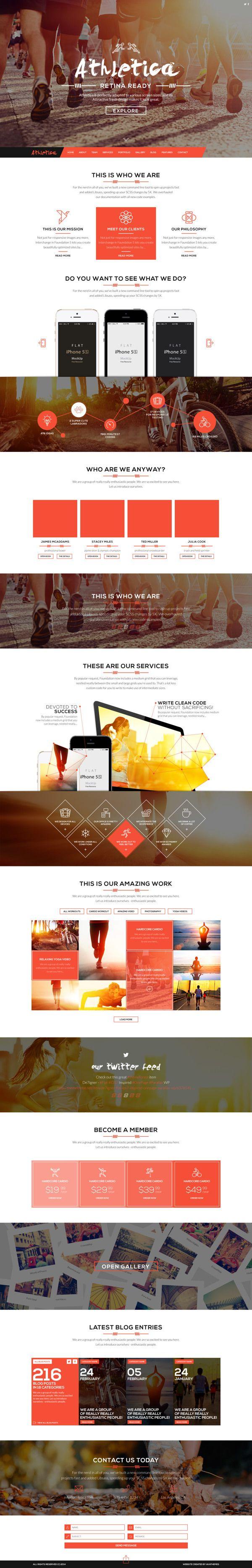 Cool Web Design on the Internet. Athletica. #webdesign #webdevelopment #website
