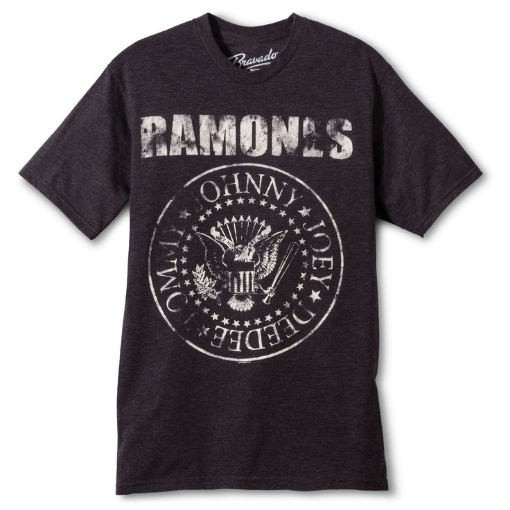 Men's Ramones T-Shirt - Charcoal Heather Xxl, Gray
