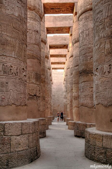 Egypt - Karnak, Luxor. Facts about Egypt: Area: 997,739 sq km. Mostly desert; only 3% is arable land – along the banks and delta of the Nile River and around the Western Desert oases. Population: 84,474,427. Capital: Cairo. Official language: Arabic Languages: 27 languages