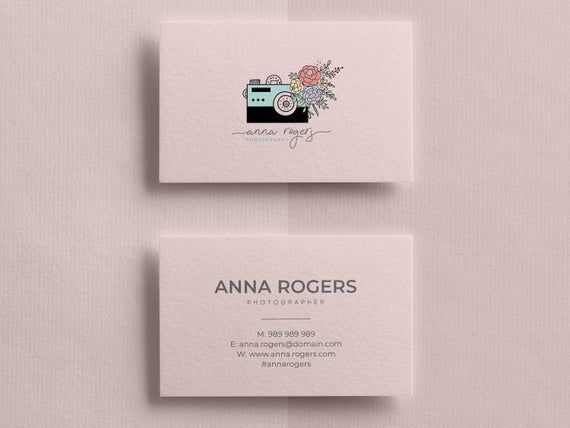 Business Card Design Business Cards Business Card Template Etsy In 2021 Printable Business Cards Photographer Business Cards Business Card Photographer