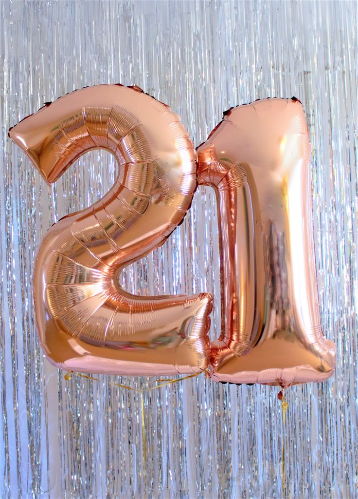 "21st Birthday Party Decorations - Rose Gold 100cm (40"") Giant Foil Balloon Kit by ThisLittleParty on Etsy"