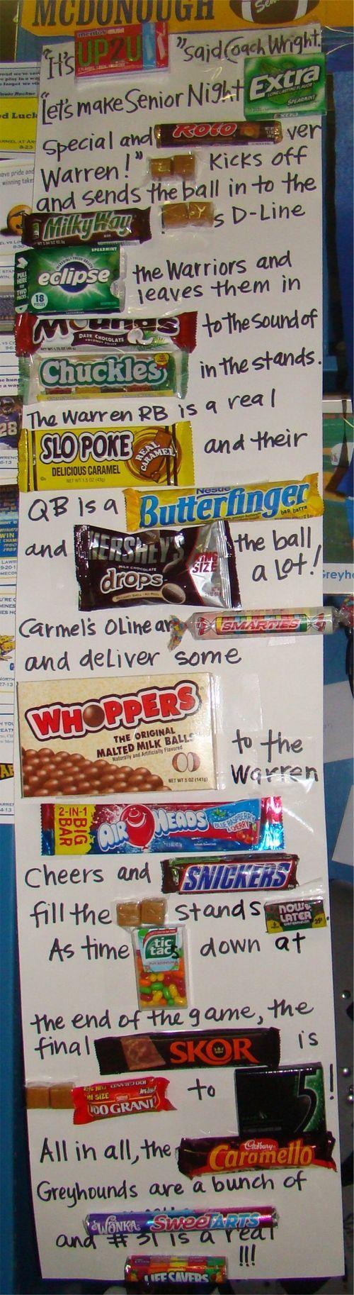 Senior week candy story--- http://freshpickedwhimsy.typepad.com/fresh_picked_whimsy/2013/10/senior-week.html