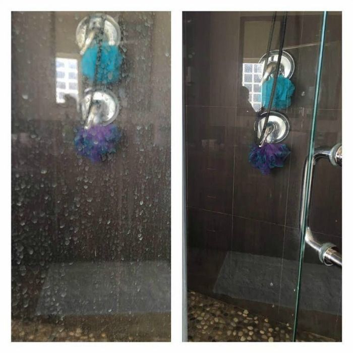 Clean Your Shower Doors In Minutes with Essential Oils Soap scum