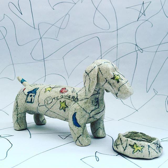 Dog 🌭 #agceramica #ceramics #ceramica #ceramique #sculpture #escultura #stoneware #gres #art #arte #design #diseño #dog #perro #doodle #🐶 #sausagedog #teckel #love #pet #pollothedog