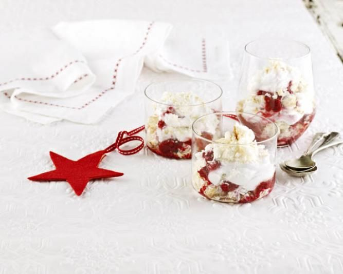 Sarah Wilson's Christmas Berry Trifle Parfait