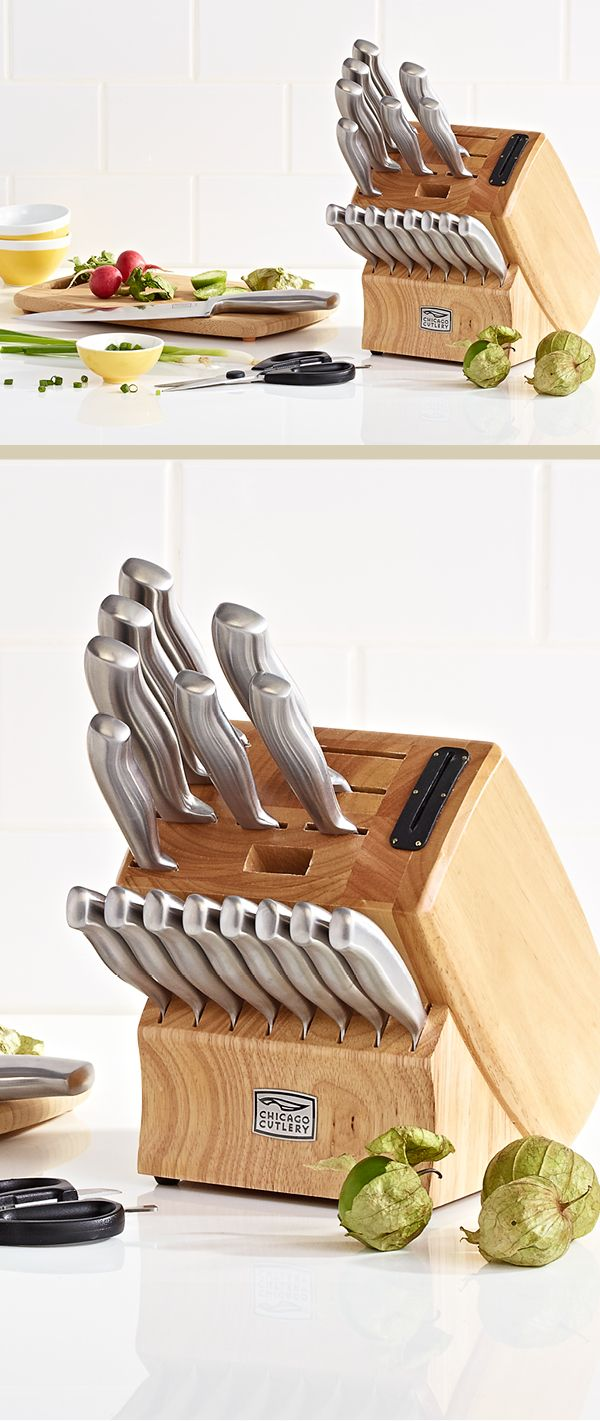 Sometimes only the very best will cut it —Chicago Cutlery Insignia Cafe 18-pc. cutlery set