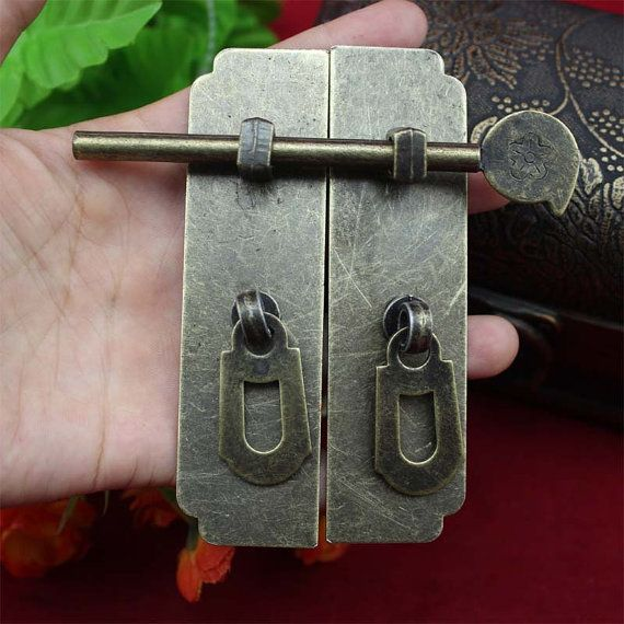 Vintage Home Latches Decor Bronze Cupboard Hinged by SiberHardware