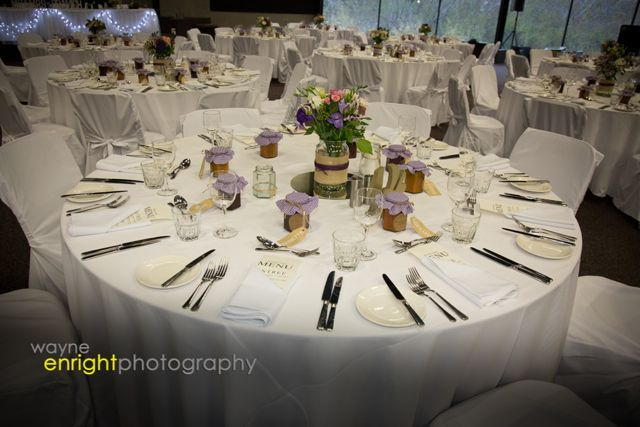 The simplicity and beauty of a table set for a wedding reception.  Download our tips on how to set your table.