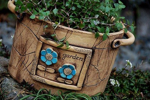 oválný květináč-garden-modrá kyti-na objednávku
