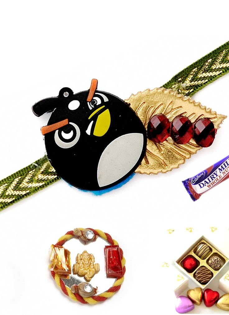Black Angry Bird Rakhi  #AngryBird