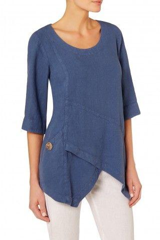 Sahara Asymmetric Linen Tunic