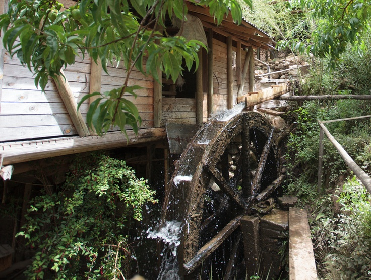 Water wheel, Pichilemu, O'Higgins, Chile