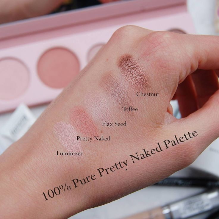 100% Pure Pretty Naked Palette Swatches {by: smallbitsofloveliness}