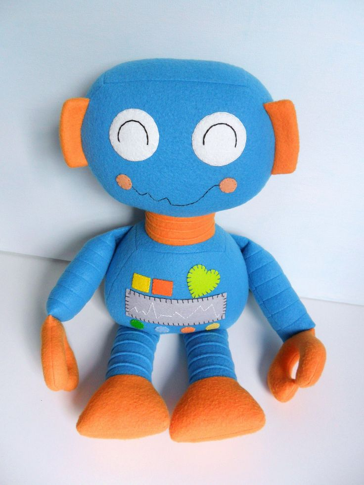 Kids - Baby & Toddler - Stuffed Toy - Rag Doll - Robot - Boy - Create Your Own Custom Order. $55.00, via Etsy.