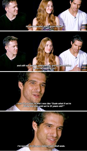 #TeenWolf cast at SDCC 2016 - Tyler Posey talking about him and Dylan O´Brien - I wouldn't change a thing