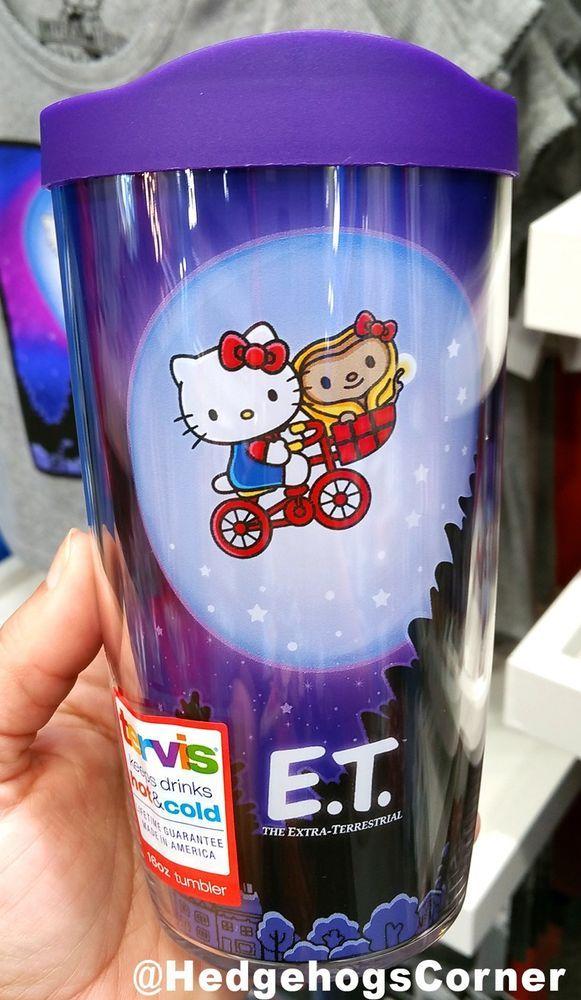 Universal Studios Hello Kitty ET Extra Terrestrial Bike Scene Tervis Mug 16oz