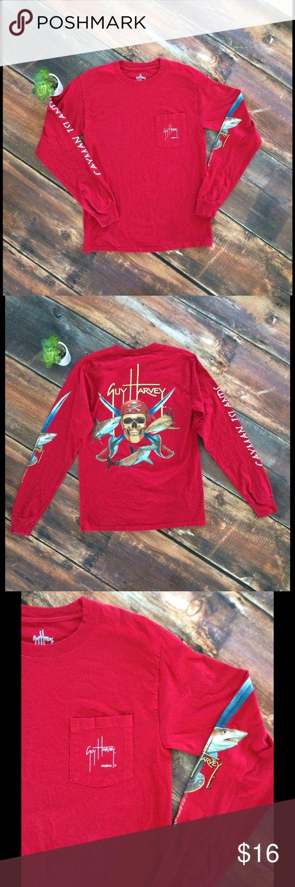 Men's Guy Harvey red like new long sleeve Guy Harvy mens red long sleeve shirt in like new condition guy harvey Shirts Tees - Long Sleeve