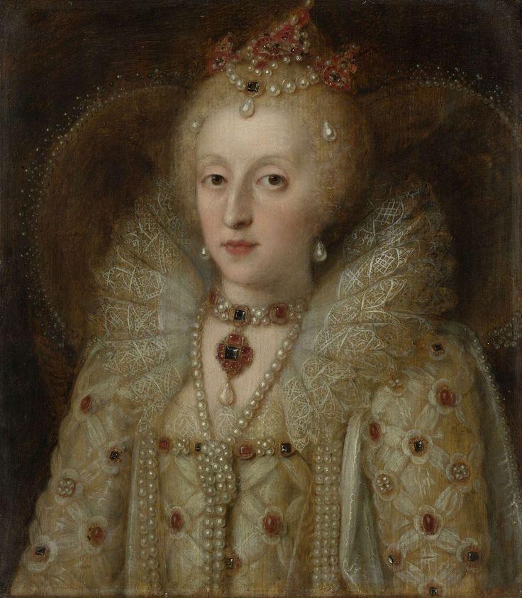 Portrait of Elizabeth I, Queen of EnglandElisabeth I (1533-1603), koningin van Engeland, anoniem, 1550 - 1599
