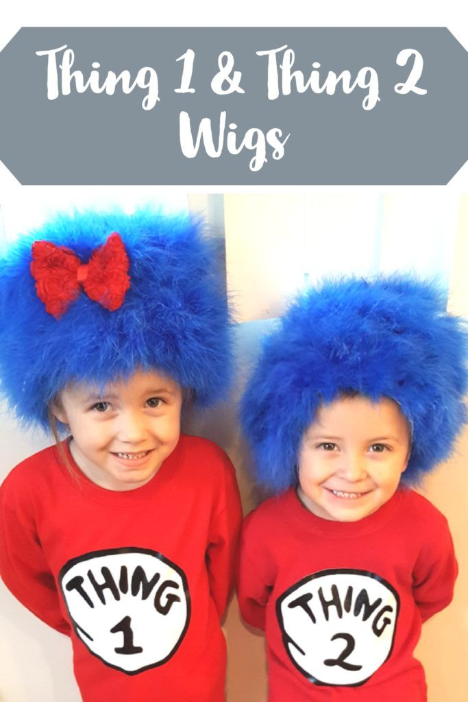 DIY Thing 1 and Thing 2 wigs are easy to make. Watch my video to see what I  used to make these cute wigs my kids loved! We love Dr. Suess of course. 9354f014c