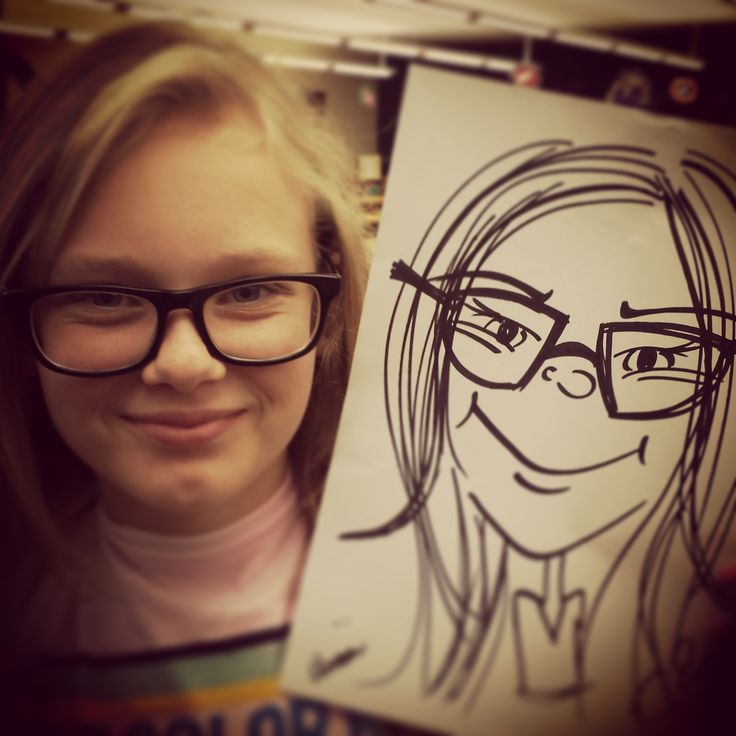 Have a caricature drawn of any picture! This is an 8x10 black and white…