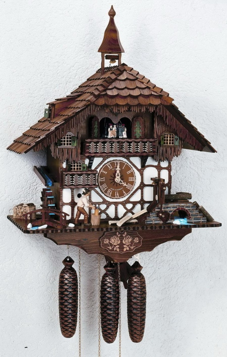 Cuckoo clock: Wood Chopper