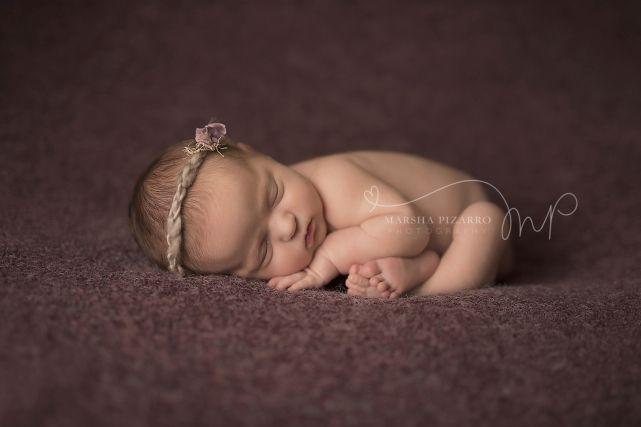 Calgary Newborn Photography, Calgary Baby Photographer, Marsha Pizarro Photography, AR Backdrops, Taco Pose, Cocoa and Blush