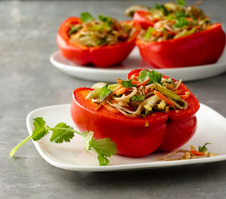 Stir fry stuffed peppers recipe stuffed pepper main for Side dish for fish