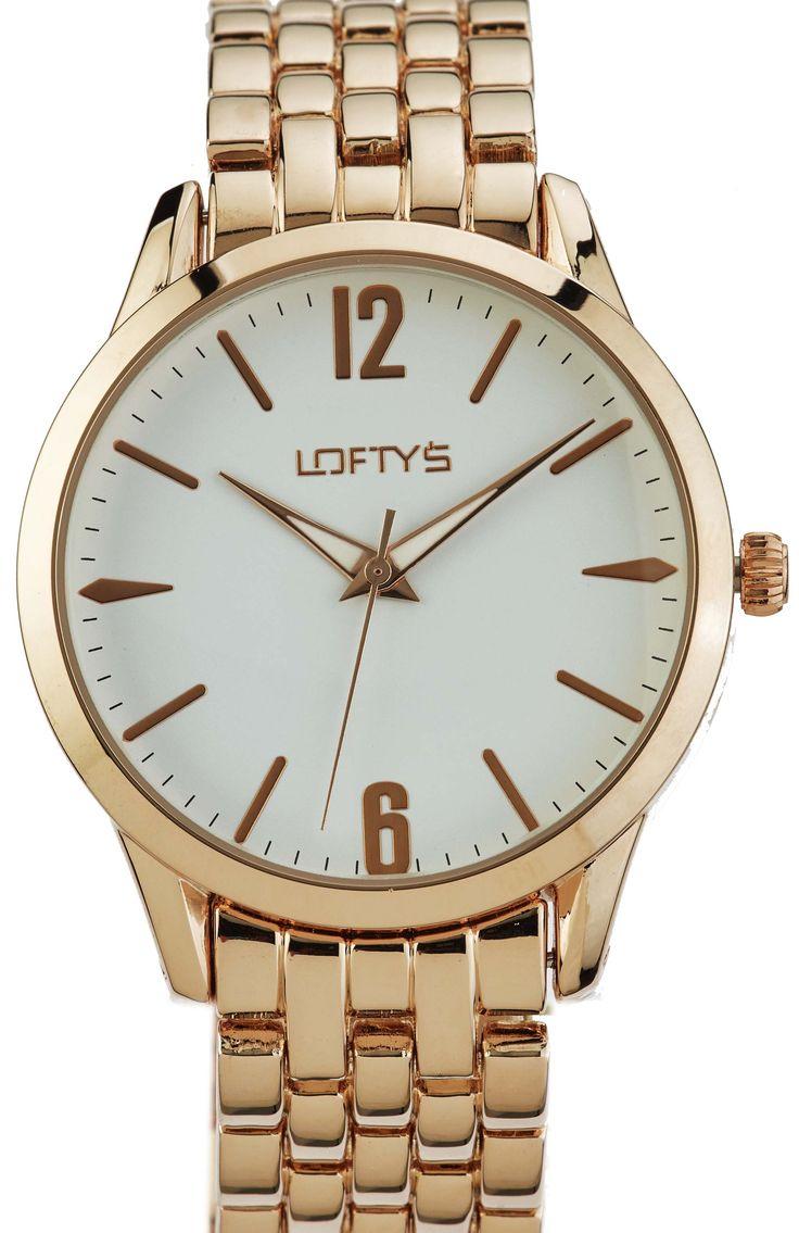 Ladies Watch with Pink Gold Metal Bracelet Y 2007RG - https://www.loftyswatches.com/shop/ladies-watch-pink-gold-bracelet-y-2007rg/