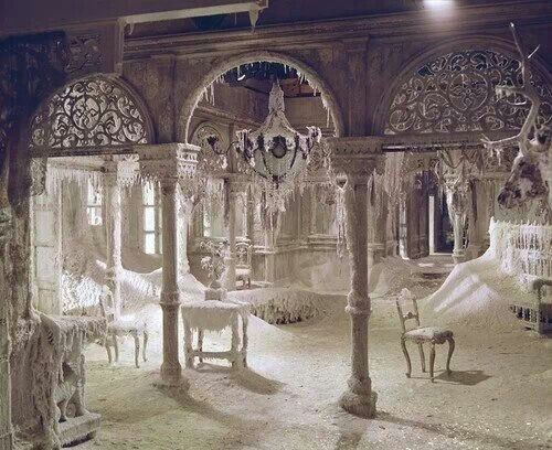 The ice palace, movie set from Dr. Zhivago