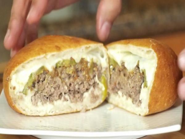 Deep Fried Hamburger - Heart attack in a bun.
