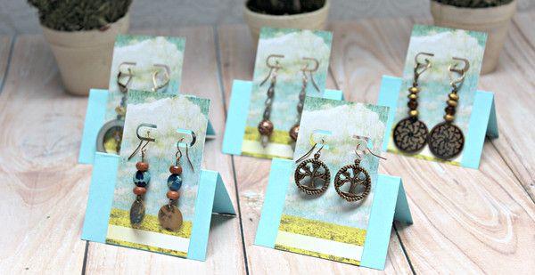 Make your own earring cards. DIY earring cards. Custom earring cards. Jewelry packaging. Earring card maker. Easy Earring Cards Punch Kit