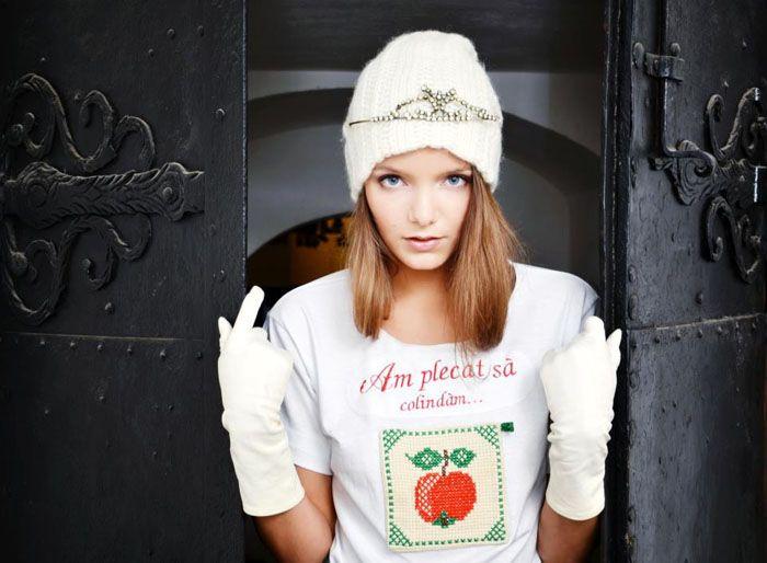 T-shirt by Mândră Chic  Romanian Christmas carols