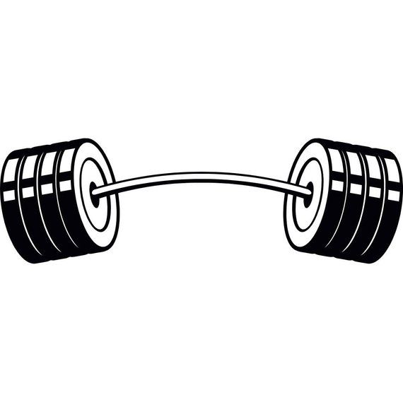 16+ Dumbbells clipart black and white information