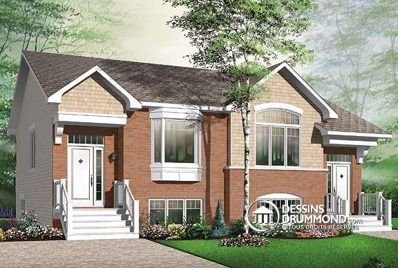 59 best mod les de maison jumel e plans de duplex plans for Modele de duplex
