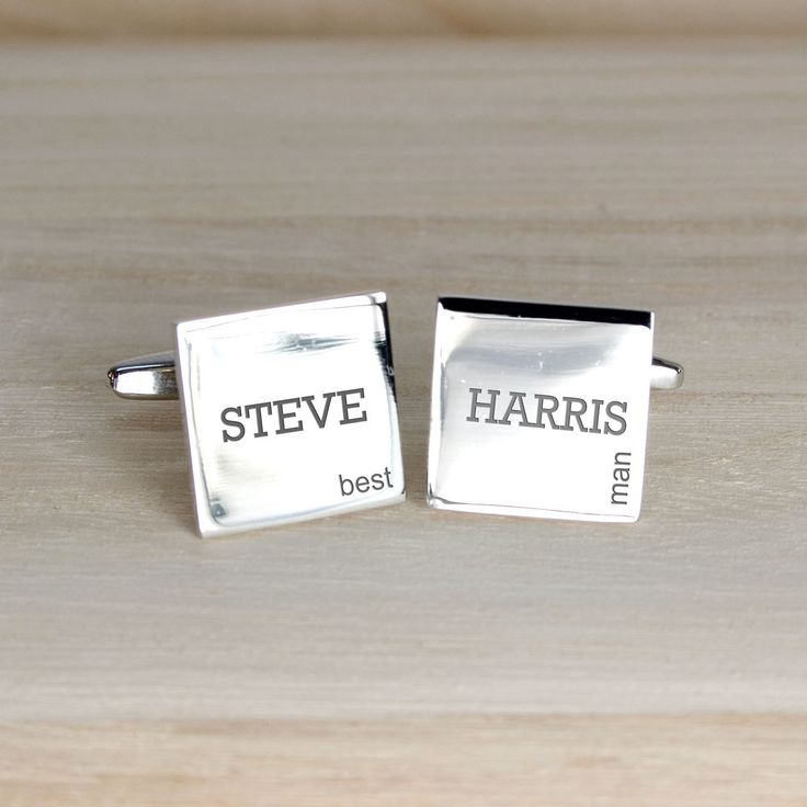 Modern Style Wedding Cufflinks - For Best man, usher, father of the groom, groomsman etc by KiddiClub on Etsy