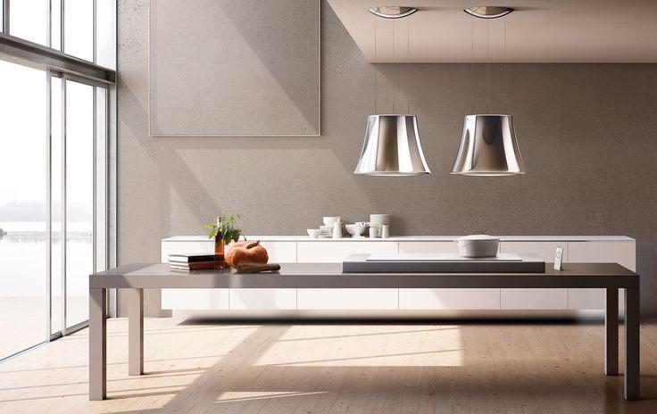 Cappe: Cappa Audrey da Elica | Design: Fabrizio Crisà | Collezione: New Evolution | Anno: 2014 | Materiali: Acciaio inox specchiato - Metallo verniciato | #cucina #design #isaloni #salonedelmobile #2014 #MilanoDesignWeek #trend #eurocucina |