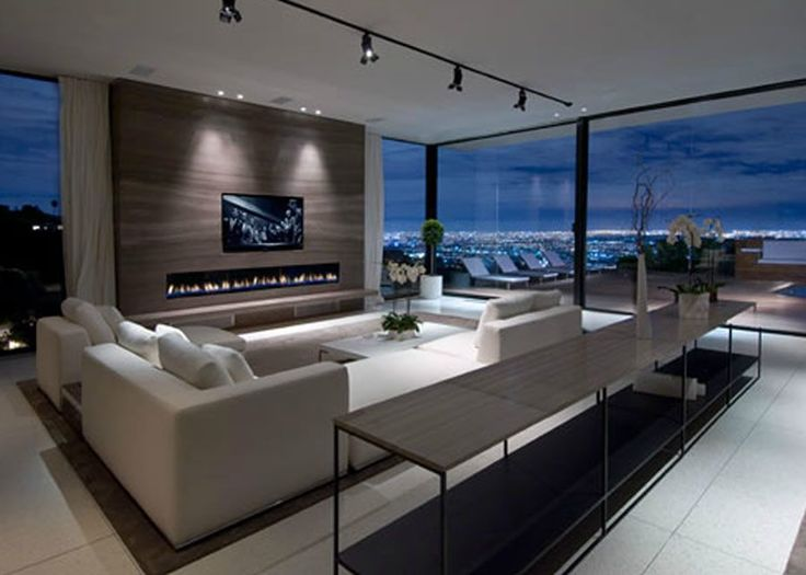 modern living room beautiful combines the view with the furniture very clean and