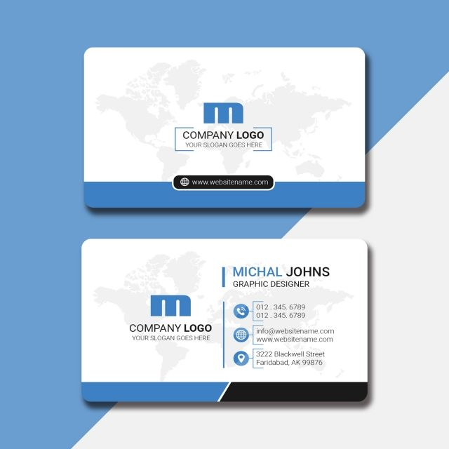 Professional Name Card Design In 2 Colors Name Card Design Classic Business Card Design Professional Business Cards Templates