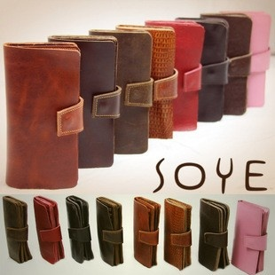 New large-capacity long leather wallets Mens Ms. influx of 2011 new Specials Europe Fan fold multi-card-bit package  $104.52