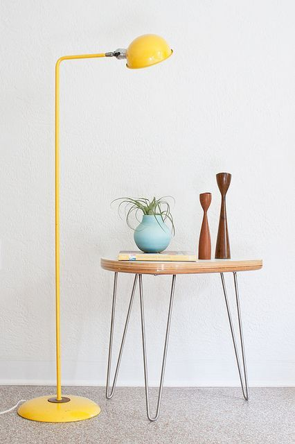 Vintage Yellow Floor Lamp by Kimberly Rhodes Roberts on Flickr.