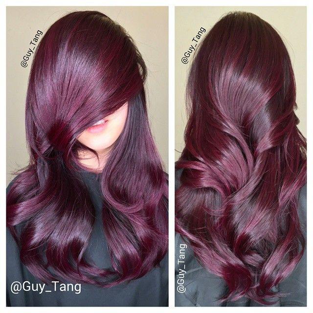 Fall favorites #red hair #balayage by Guy Tang